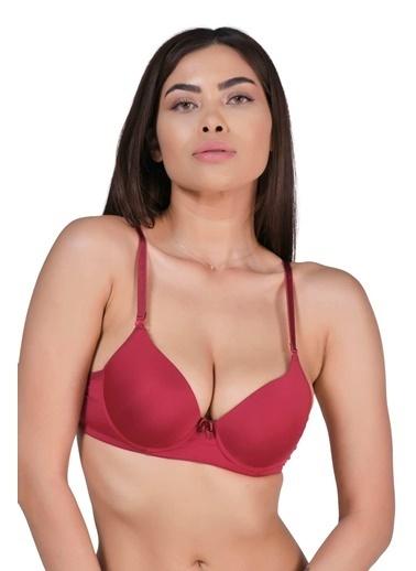 Elif İç Giyim Kadın B Cup Destekli Dolgulu Basic Sütyen Bordo